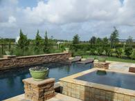 a custom swimming pool and spa created for Jeff Cantwell