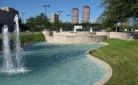 A one of a kind retention pond built for Landry's Restaurants Inc. in Houston, Texas
