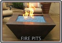 Custom and semi-custom fire pits are available from our world class fire feature design team