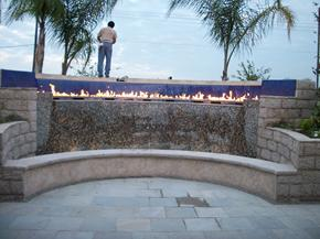 Fire features, such as fire pits and fire fountains, are what Theme Designs Studios is best known for.